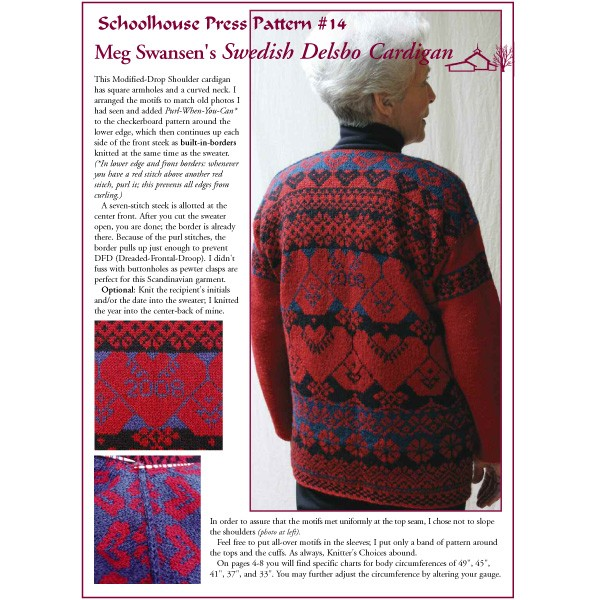 Knitting With Two Colors Meg Swansen : Schoolhouse press delsbo sweater spp patterns