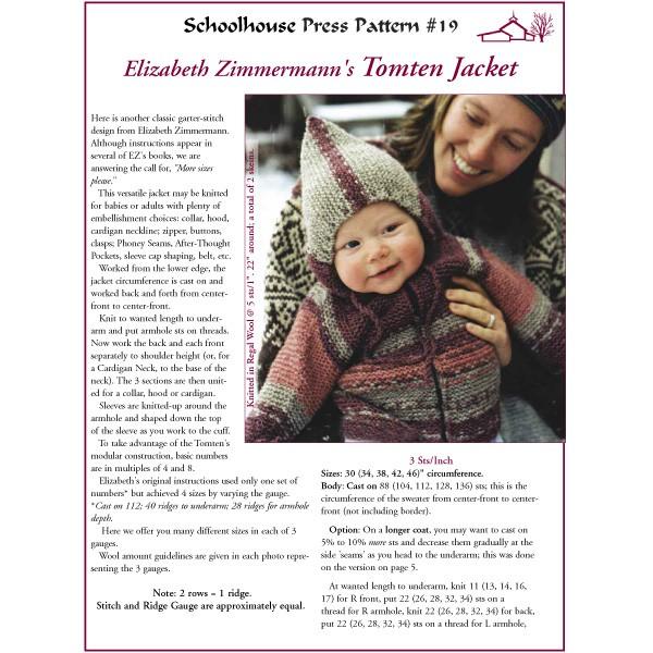 Elizabeth Zimmerman Free Knitting Patterns : Schoolhouse Press - The Tomten - SPP19 - Schoolhouse Press Patterns - Patterns