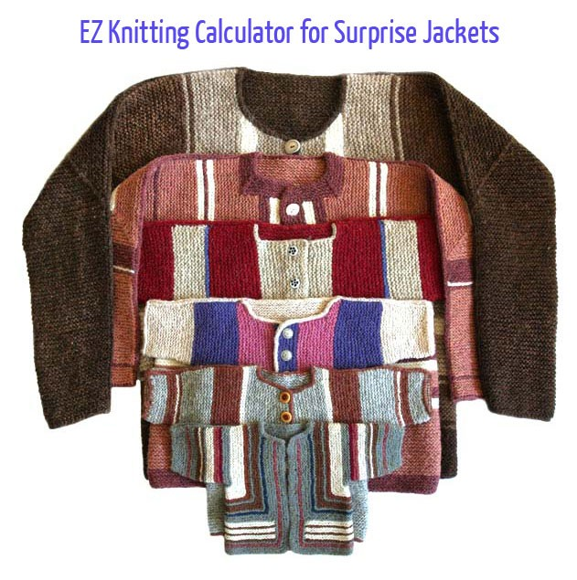 EZ Knitting Calculator for Surprise Jackets