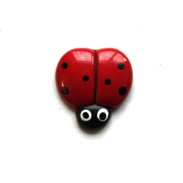 BUTTON - LADYBUG BUTTON
