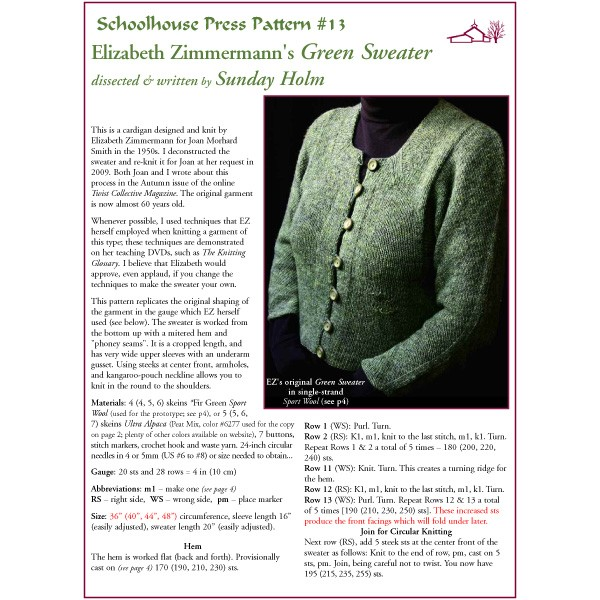 Schoolhouse Press - Patterns