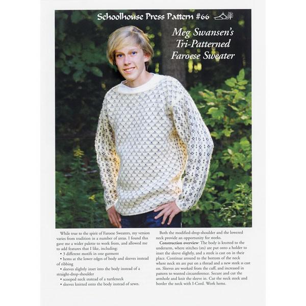 Meg Swansen's Tri-Patterned Faroese Sweater - SPP66