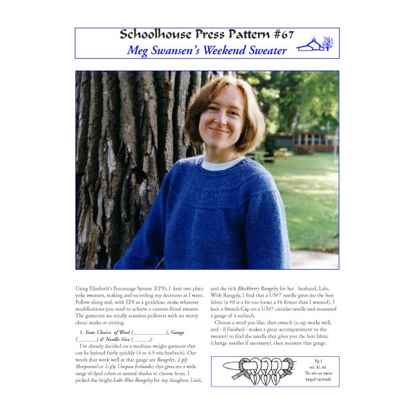 1fad49c267cc Schoolhouse Press - Weekend Sweater - SPP67 - Patterns