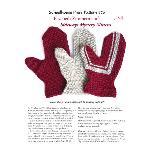 Sideways Mystery Mittens, SPP76
