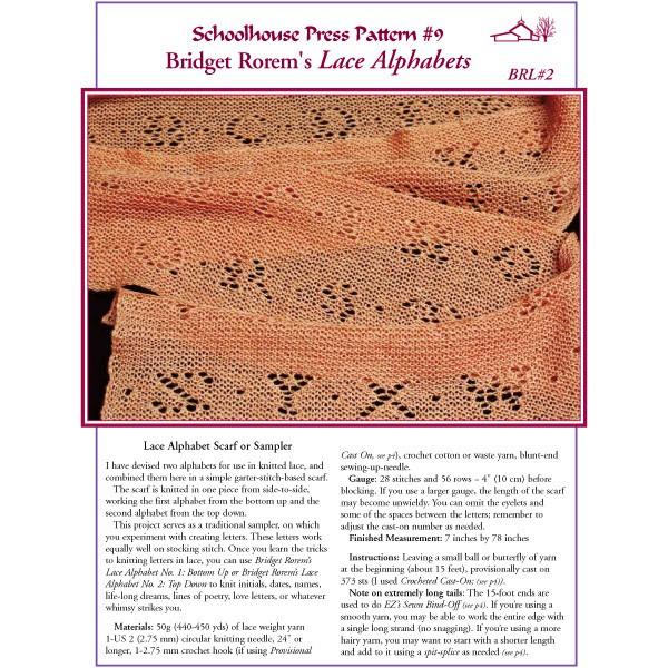 Lace Alphabet Shawl - SPP9