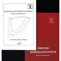 Føroysk Bindingamynstur / Bundnaturriklæð with translation (Red cover)