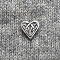BUTTON - CELTIC HEART