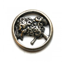 BUTTON - DANCING SHEEP BUTTON