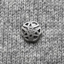 BUTTON - ROUND CELTIC KNOT