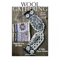 WG 97 Fingerless Fair Isle and Selbu Flower Mittens