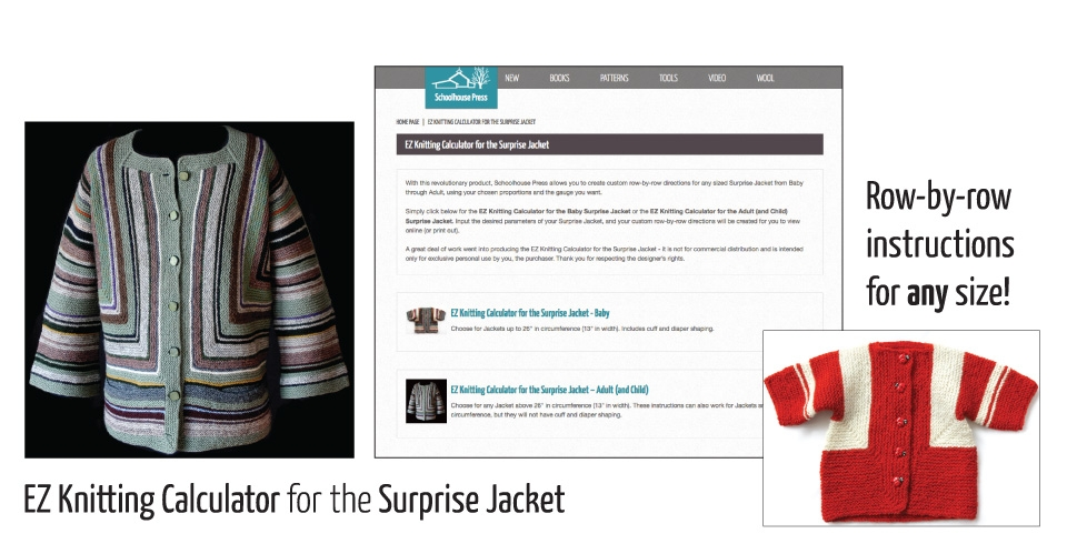 surprise jackets and ez calculator