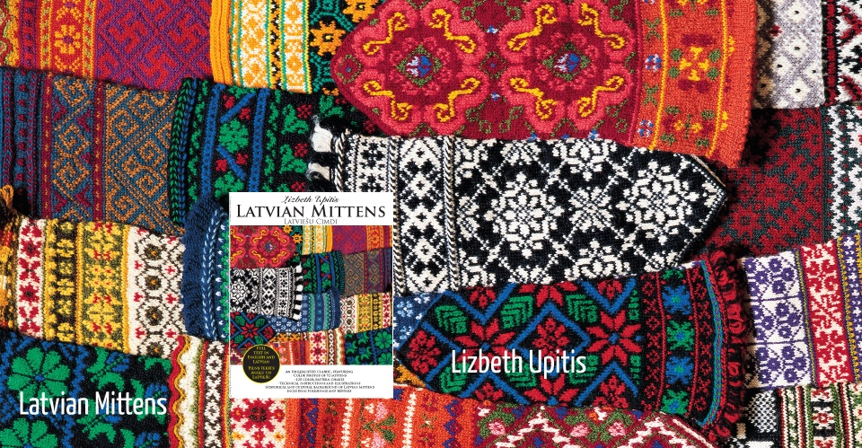colorful latvian mittens and star and snowflake motifs