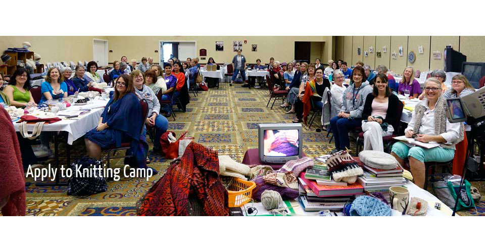 Picture of knitters attending Knitting Camp