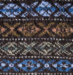 picture of fair isle in browns and blues