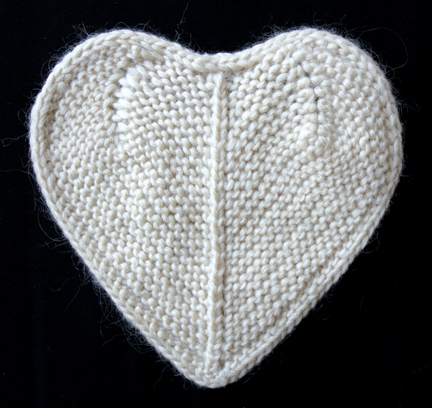 Cream Knitted Heart