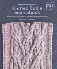 image of book cover with cabled sample in light purple