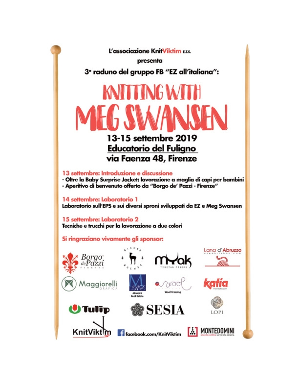 poster advertising Meg Swansen's visit to Italy