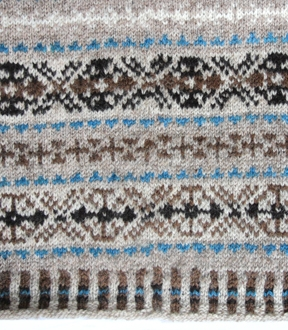 fair isle pattern with slight jog in pattern