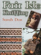 book cover of fair isle sweater knit in browns