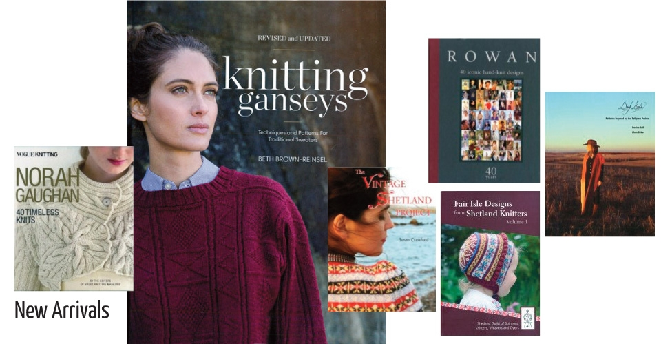 new books such as knitting ganseys