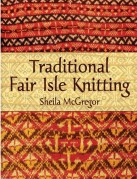 book cover of traditional fair isle knitting in oranges