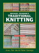 book cover of traditional knitting in greens